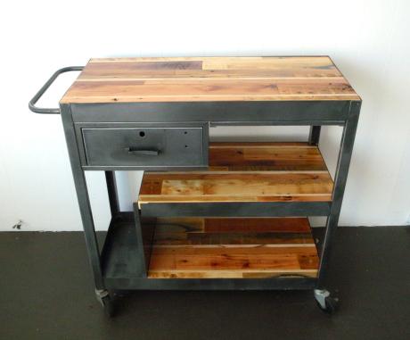 Carrito metalico-muebles para oficina