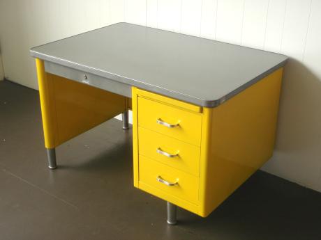 Escritorio de Metal Amarillo-muebles para oficina